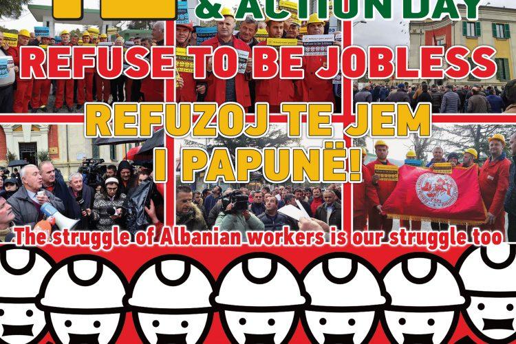"""12 Mars Dita e solidarizimit me Naftetaret Shqiptare. """" REFUZOJ TE JEM I PAPUNE"""""""