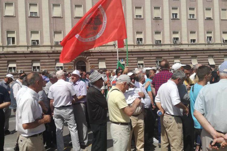 Protesta para kryeministrise per Statusin e minatoreve DT.06.06.2018