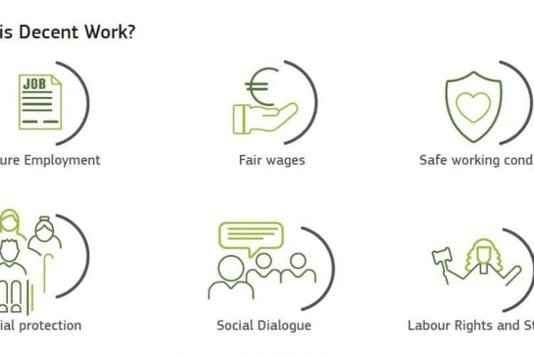"7 of October ""  International Day of Decent Work"""